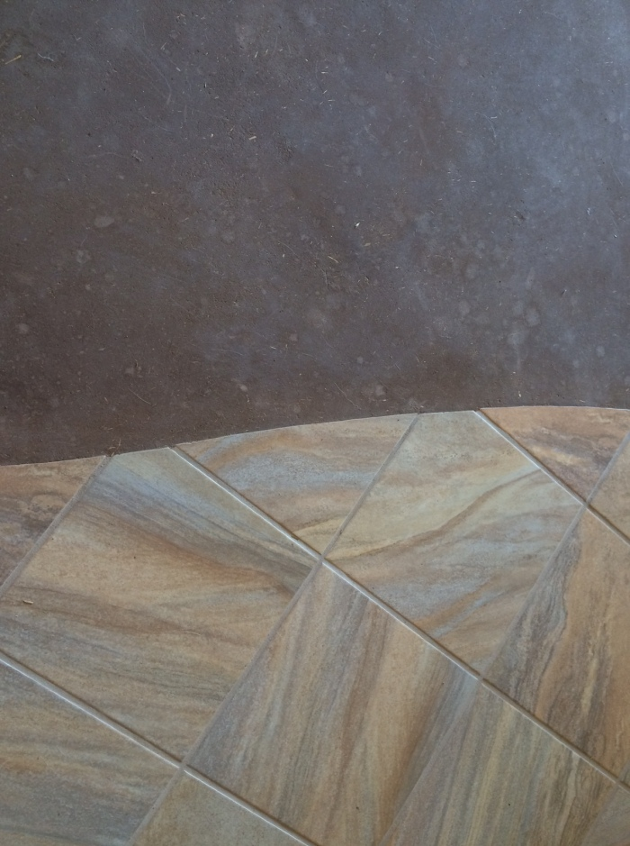 tile and earthen floor transition