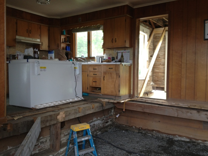 kitchen floor extension and slab/radiant heating