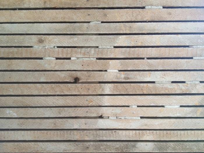 old plaster lath